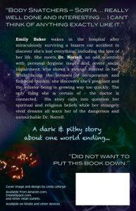 Ashes, a sci-fi novel back cover