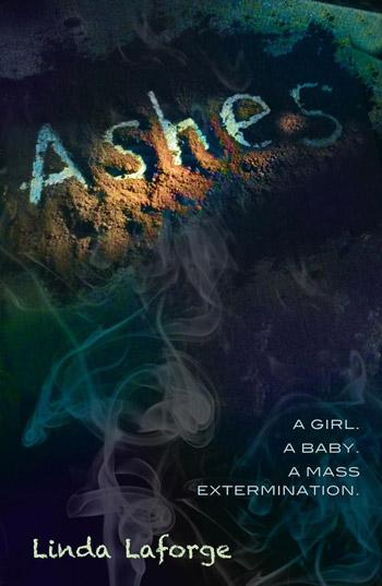 Ashes, a sci-fi novel cover