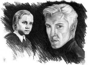 Draco Malfoy pencil drawn portrait