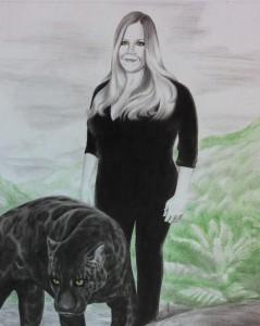 Unique portrait commission, mixed media illustration