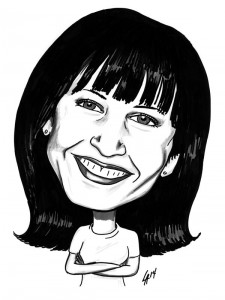 Caricature commission for 12 Ladies in a Ten