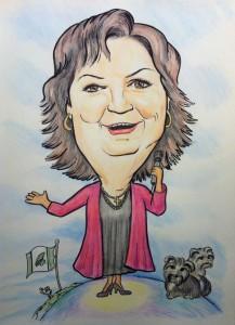 Colour Caricature of Canadian singer Rita McNeil
