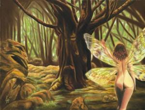 Sensual Fairy painting