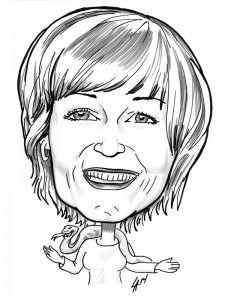 Caricature commission for 12 Ladies in a Tent