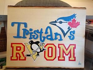 Original design, painted room sign