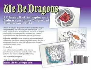 We Be Dragons Colouring Book back cover