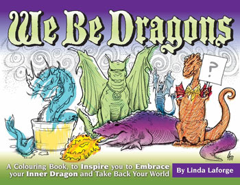 We Be Dragons Colouring Book Cover