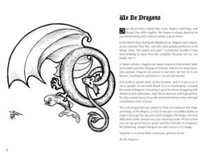 We Be Dragons Colouring Book introduction page