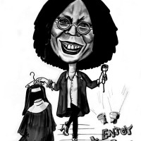Caricature, Whoopi Goldberg, original portrait