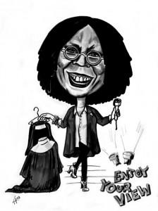 Caricature, Whoopi Goldberg, original portrait