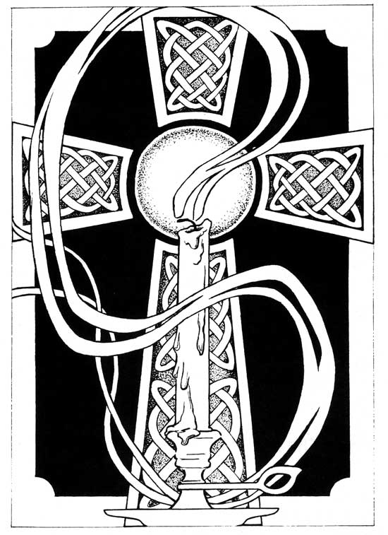 Celtic Cross and Candle