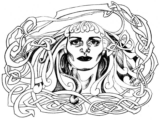 Morgana, Lady of the Lake, celtic not design